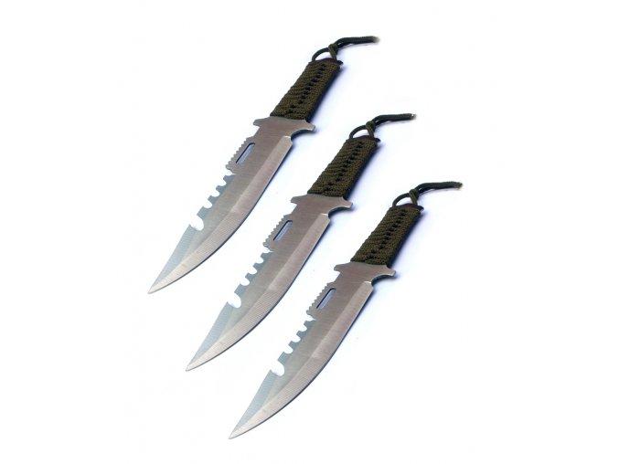 """Velké vrhací nože """"JUNGLE"""" - 3ks!"""