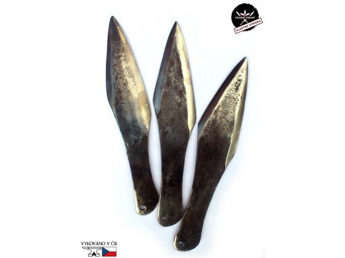 """Masivní velké vrhací nože """"GIANT STRIKE - 3 ks"""" kované"""