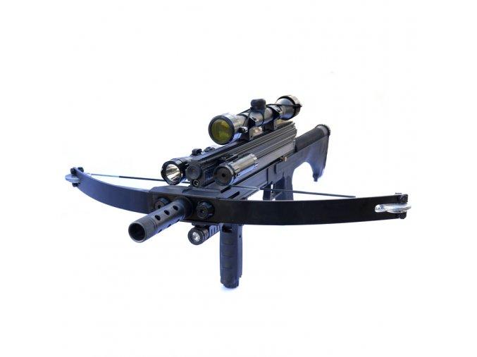 """Taktická kuše """"M4A1 WARRIOR"""" kladková, kuličková + bohatá výbava!"""
