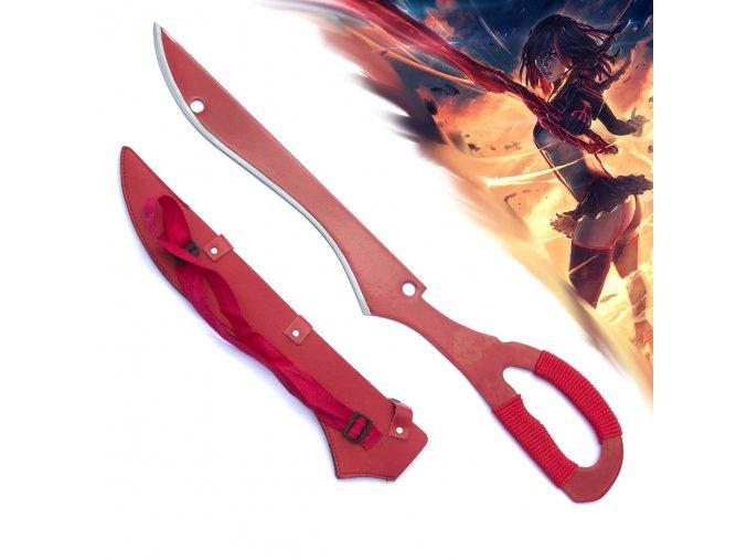 """Meč """"KILL LA KILL SWORD"""" anime cerveny"""