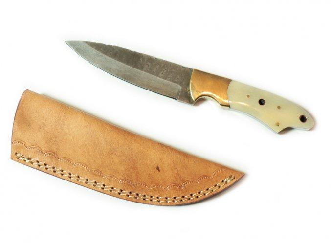 """Pouštní damaškový nůž """"CAMEL SPIRIT"""" - s kostí"""