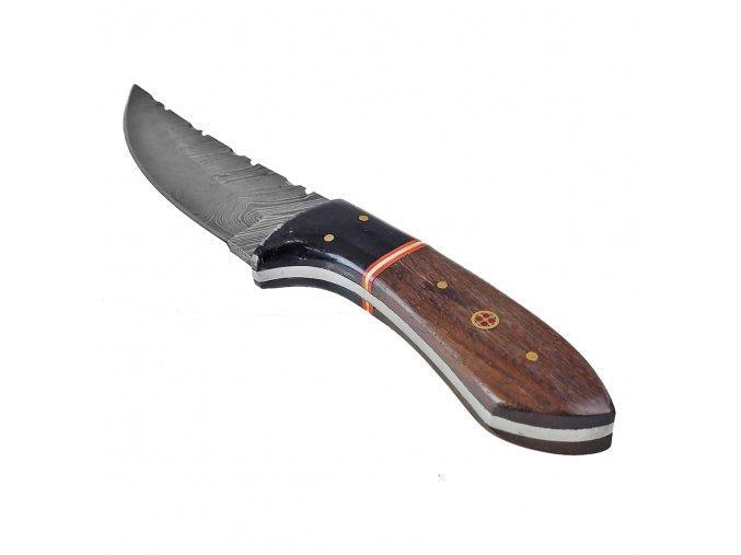 """Damaškový nůž """"PERSIAN PRINCE"""" s pravým koženým pouzdrem"""