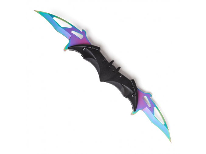 "Double karambit ""BAT KNIFE"" duhový"