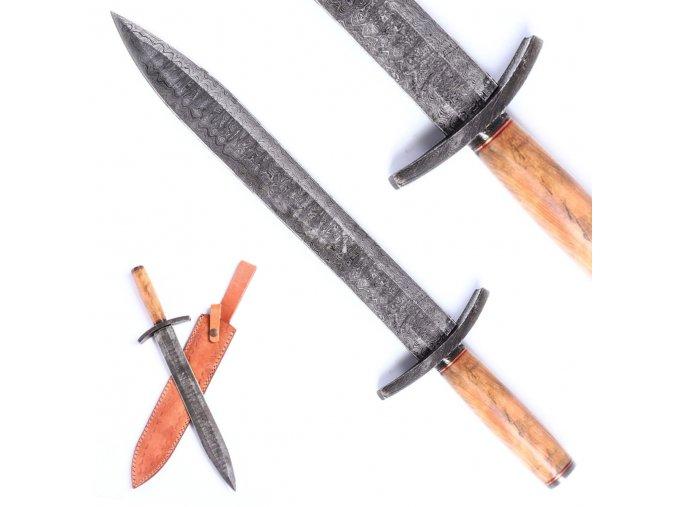 "Rytířský damaškový meč ""KNIGHTS PRIDE"" krátký"