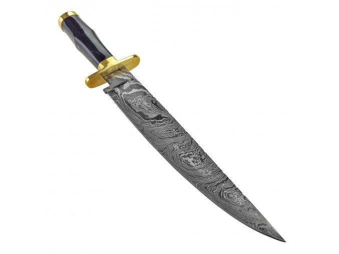 """Damaškový nůž """"BLACK BEAR"""" Bowie"""