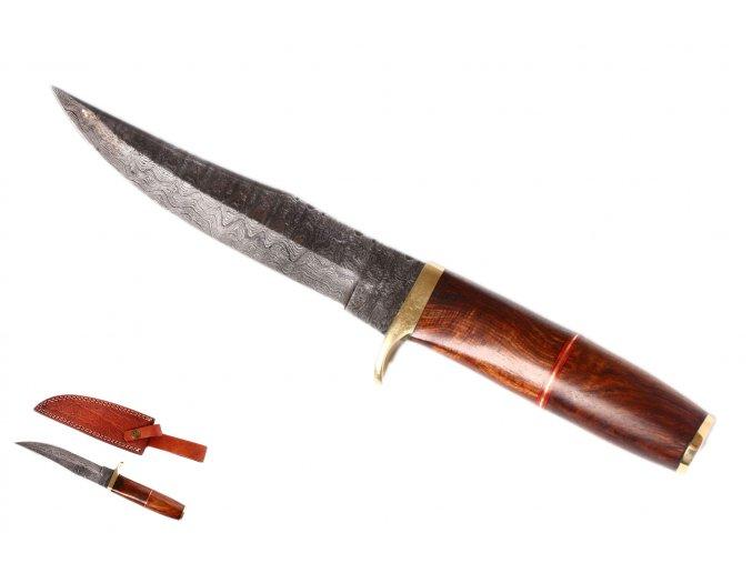 """Damaškový pevný nůž """"EBONY BLADE"""""""
