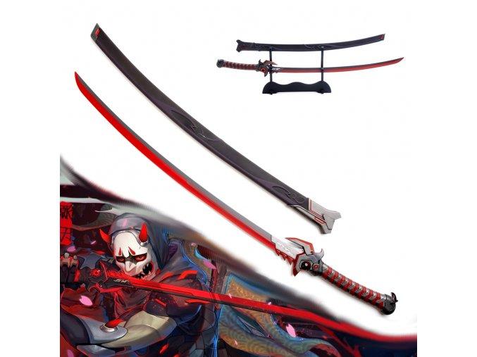"Replika katana ""GENJI SHIMADA"" Oni skin"