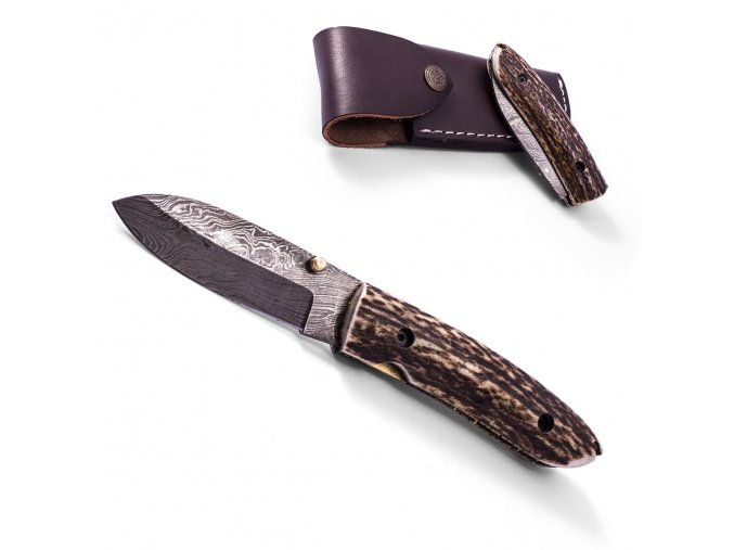 """Damaškový zavírací nůž """"HORN OF WILD"""""""