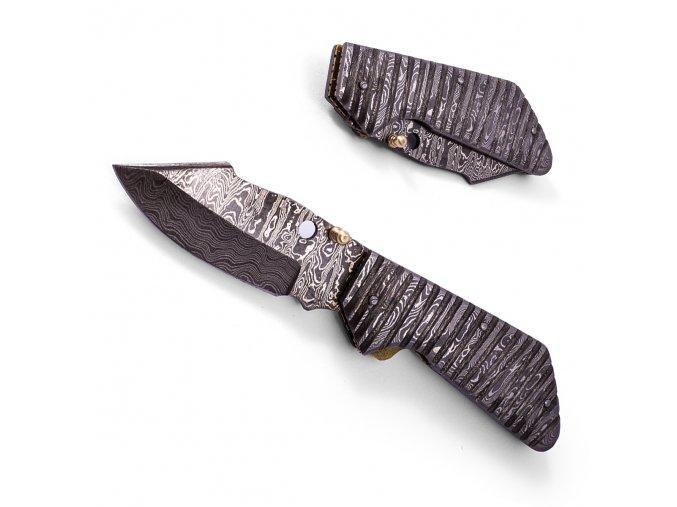 """Damaškový zavírací nůž """"REAL STEEL"""""""