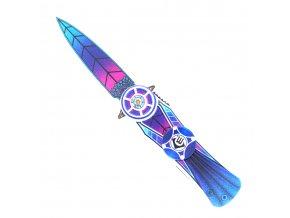 """Zavírací nůž a fidget spinner v 1 """"SPINNING RAINBOW"""""""