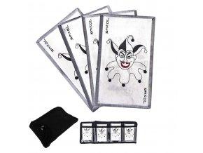 """Ocelové vrhací karty """"JOKERS GAME"""" 4 kusy!!!"""