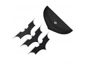 "Ocelový vrhací šuriken ""BATARANG"" Batman 3 kusy!!"