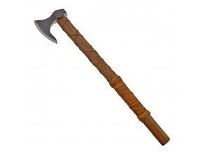 """Kovaná vikingská sekera """"ONEHAND DANAX"""" s koženým opletem!"""
