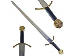 """Gotický rytířský meč """"TEUTONIC KNIGHTS ORDER"""" Kovaný, ostrý!"""