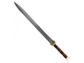 """Lakónský damaškový meč """"KING OF AMYKLAI"""" Funkční, ostrý!"""