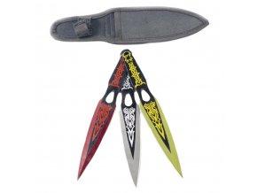 "Sada 3 vrhacích nožů ""COLORED EDGE"""