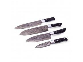 """Sada damaškových kuchyňských nožů """"BLACK KITCHEN"""""""