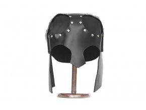 """Kožená helma """"BLACK KNIGHT HELMET"""""""
