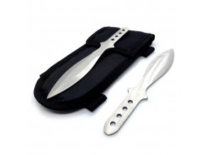 """Malé vrhací nože """"HEAVY OSA"""" - 4 ks stříbrné"""