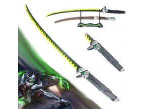 """Dračí katana """"GENJI SHIMADA DRAGON SWORD"""" svítící čepel!"""