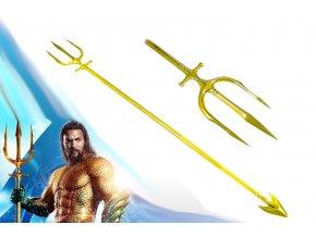 "Aquamanův trojzubec ""TRIDENT OF ATLAN"" DC ocelová replika"