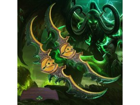 "Meče 2x Illidana Stormrage ""WARGLAIVE OF AZZINOTH"" World of Warcraft"
