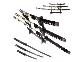 "Sada samurajských mečů ""WHITE TIGER"" II jakost"