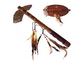 """Indiánský tomahawk """"AMERICAN EAGLE"""" s dřevěnou plaketou"""