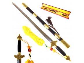 """Honosný čínský meč """"LEGEND OF TAI-CHI"""" Damašková ocel"""
