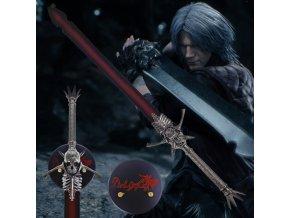 """Danteho obouručák s plaketou """"SON OF SPARDA"""" Devil May Cry"""