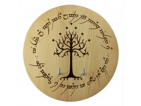 "Dřevěná plaketa ""BÍLÝ STROM GONDORU"" Pán prstenů"