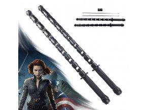 """Bojová tyč """"BLACK WIDOW STAFF - BLACK"""" Avengers - Svítící"""