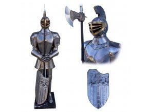 """Kovová socha rytíře """"PROTECTOR OF CASTLE"""" V životní velikosti!"""