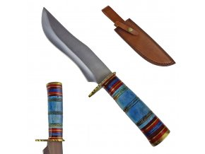 """Pevný nůž """"HURON"""" s koženým pouzdrem"""
