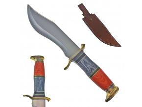 """Pevný lovecký nůž """"PREDATOR HUNTER"""" s koženým pouzdrem"""