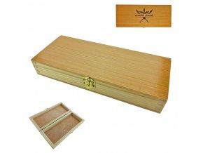 """Dřevěná krabička Dřevěná krabička na zavírací nůž """"WOODEN GIFT"""" s možností gravírování"""