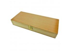 """Dřevěná krabička na zavírací nůž """"WOODEN GIFT"""" s možností gravírování"""