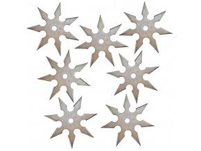 """Sada vrhacích hvězdic """"NATTY 7+7"""" stříbrné"""