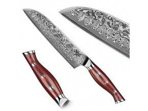 "Damaškový santoku nůž ""KONOHA"""