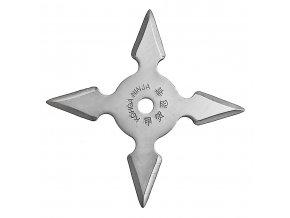 """Vrhací hvězdice """"NATTY"""" čtyřcípá, stříbrná"""