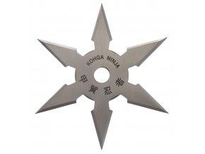 "Vrhací hvězdice ""ARROW"" šesticípá, stříbrná"