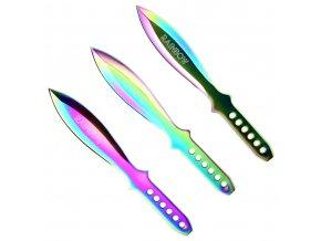 "Sada vrhacích nožů ""RAINBOW HEAVY"" - 3 ks"