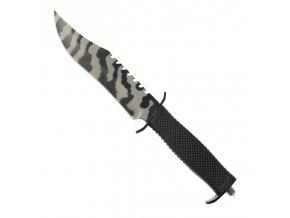 "Taktický nůž ""BLACK ARMY"" s kovovým hrotem"