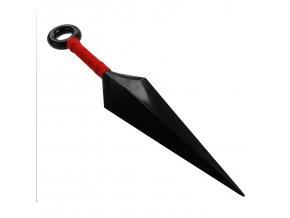 """Naruto vrhací nůž """"NARUTO KUNAI"""" plast, červený"""