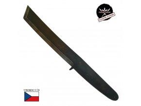 """Monstrózní vrhací nůž """"THROWING TANTO"""" železný s nerez úpravou"""