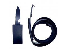 "Pásek s nožem ""ARMED BANDIT"" černý"