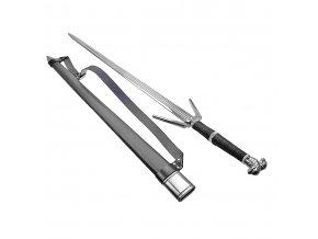 """Luxusní obouruční meč """"ZAKLÍNAČ STŘÍBRNÝ"""" s popruhem"""