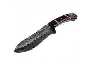 """Damaškový nůž """"HORN OF THE DEVIL"""" s buvolím rohem!"""