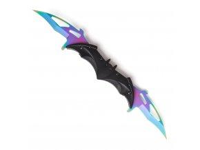 "Double karambit ""BAT KNIFE"" duhový"
