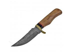 """Damaškový krátký nůž """"WOLFS TOOTH"""""""